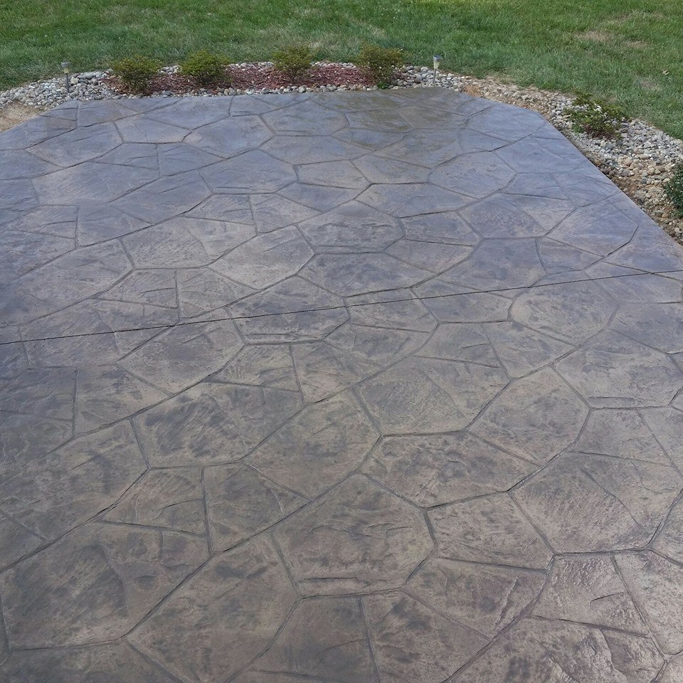 Canyon Stone Stamped and Colored Patio - FS Construction Services