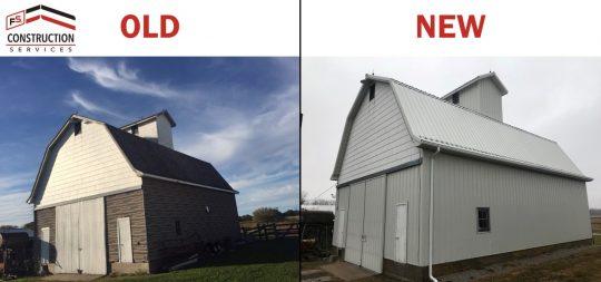 Barn Old v New Metal Roofing Siding