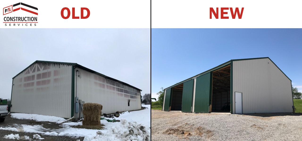 Before and After New Storage Building