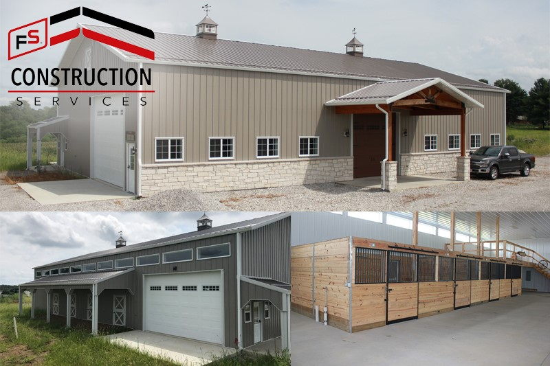 FS Construction Services building horse barn