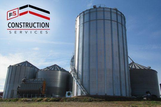 FS Construction Services grain bin addition for harvest